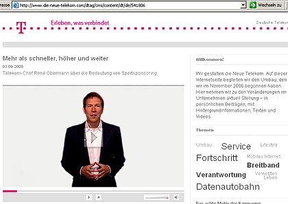 """Telekom goes Bewegtbild: """"Nichts veranschaulicht den Wandel in der Telekommunikation so gut, wie die Tatsache, dass Sie dieses Video über PC sehen"""""""