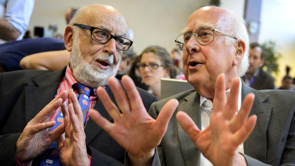"""Higgs und Englert: """"Preis für etwas sehr Kleines"""""""