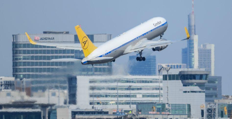 Condor-Flug hebt in Frankfurt am Main ab (Archivbild von März 2020)