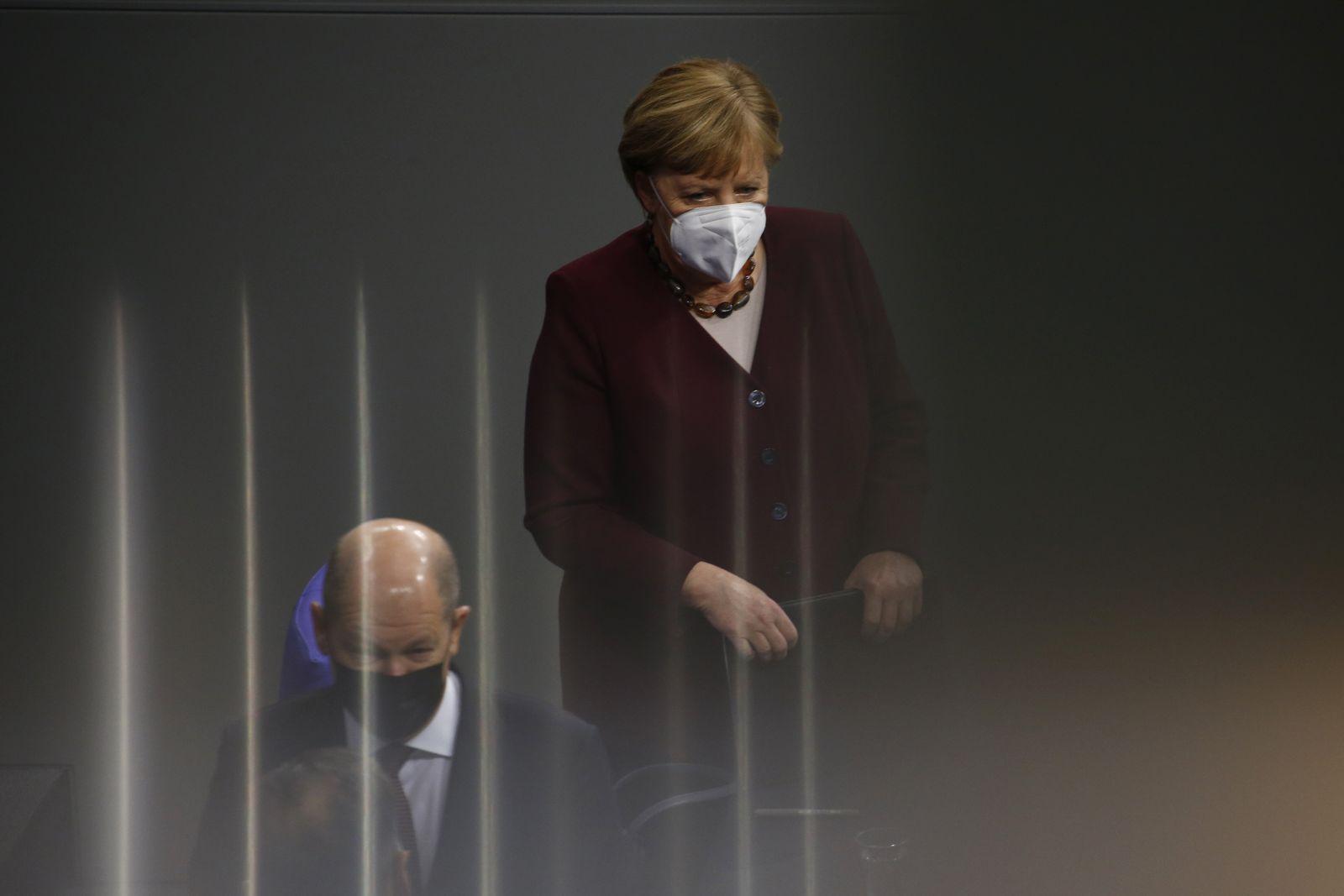 Merkel Gives Bundestag Address As Lockdown Measures Tighten