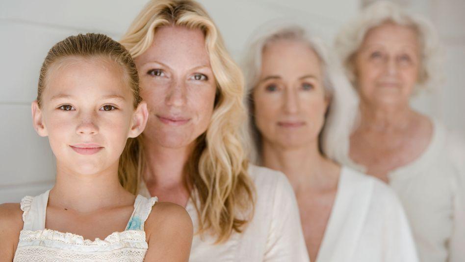 Vier Generationen, vier Lebensalter: Auch im Ruhestandsalter ändert der Mensch noch seine Persönlichkeit