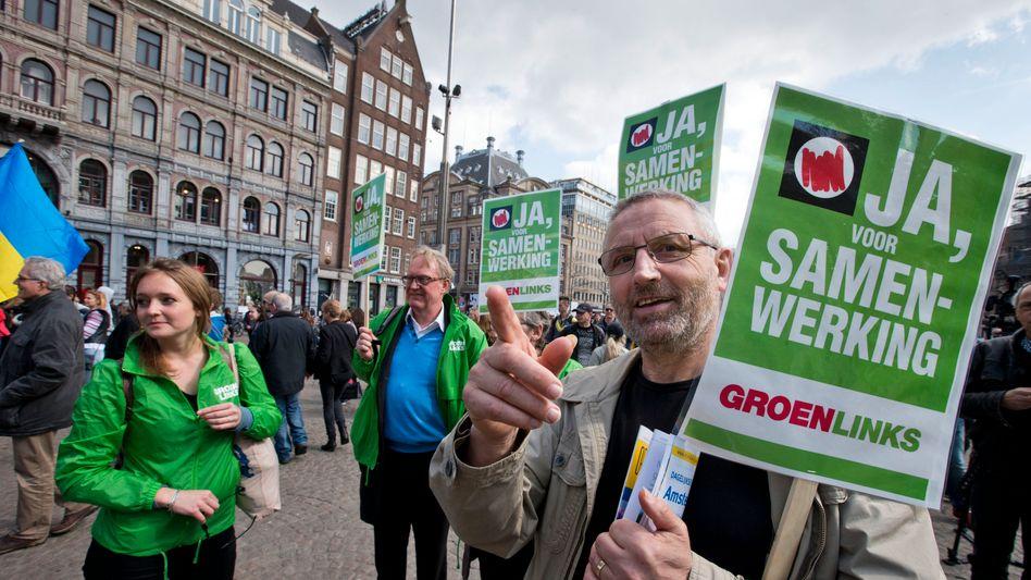 Auf verlorenem Posten: In einer Volksabstimmung hatten rund 61 Prozent der niederländischen Wähler das EU-Abkommen mit der Ukraine abgelehnt.