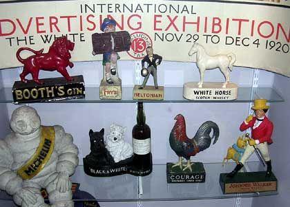 London 1920: Exponate zur damaligen Internationalen Werbeausstellung