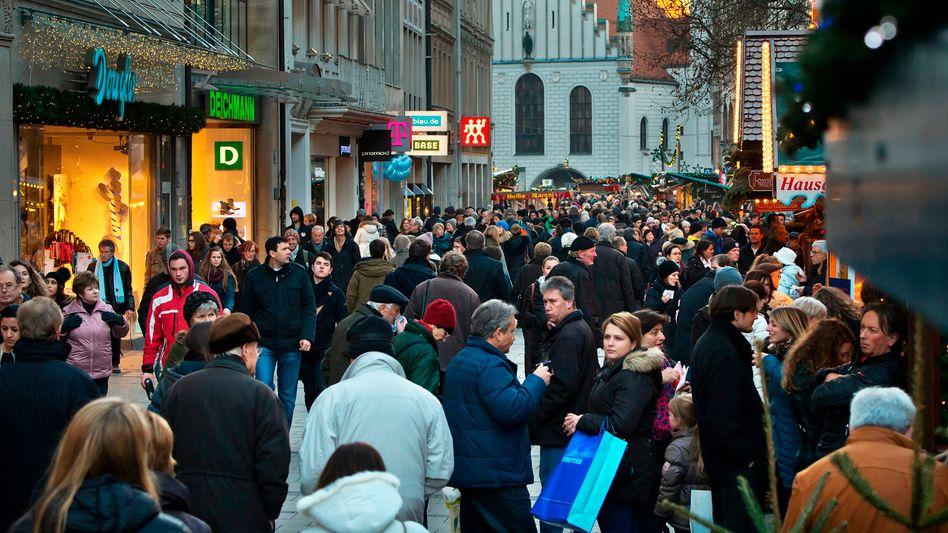 Einkaufsmeile in München: Preisanstieg von 1,6 Prozent im Januar