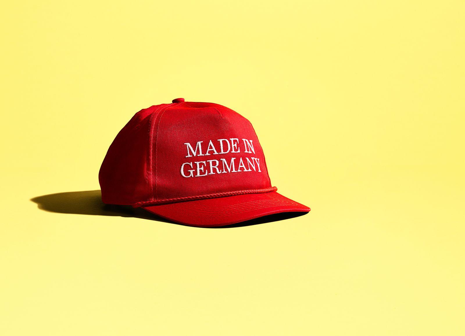EINMALIGE VERWENDUNG Trump-Basballkappe mit Schriftzug âMade in Germanyâ