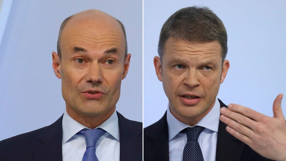 Aussichten: Deutsche-Bank-Vorstände Christian Sewing (r.) und Marcus Schenck.