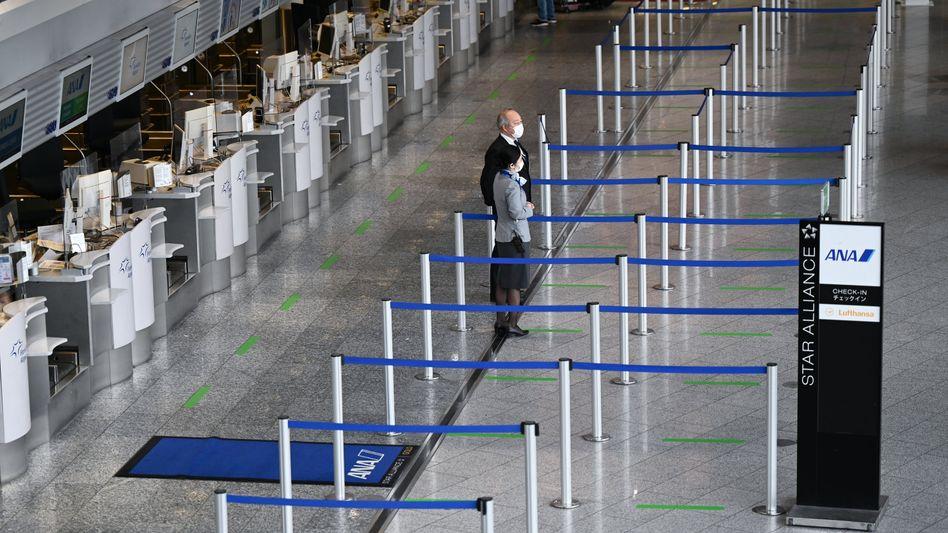 Weltflughafen im Winterschlaf: Wegen der Corona-Krise ist am größten deutschen Flughafen nichts mehr los