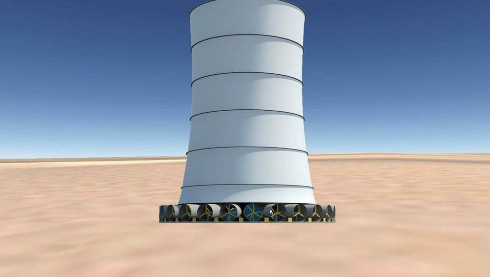 Desertec auf amerikanisch: Wie das Fallwindkraftwerk funktioniert