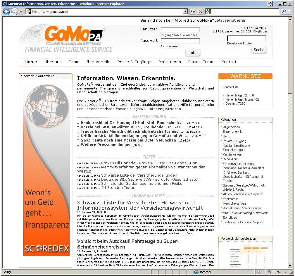SCREENSHOT / gomopa.net