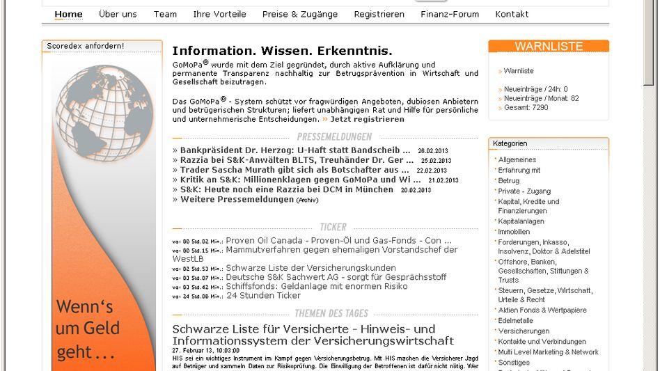 """Finanznachrichtendienst """"Gomopa"""": Sechsstellige Zahlung von S&K"""
