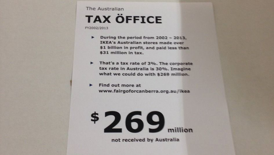 Tax Öffice: Falsches Protest-Preisschild