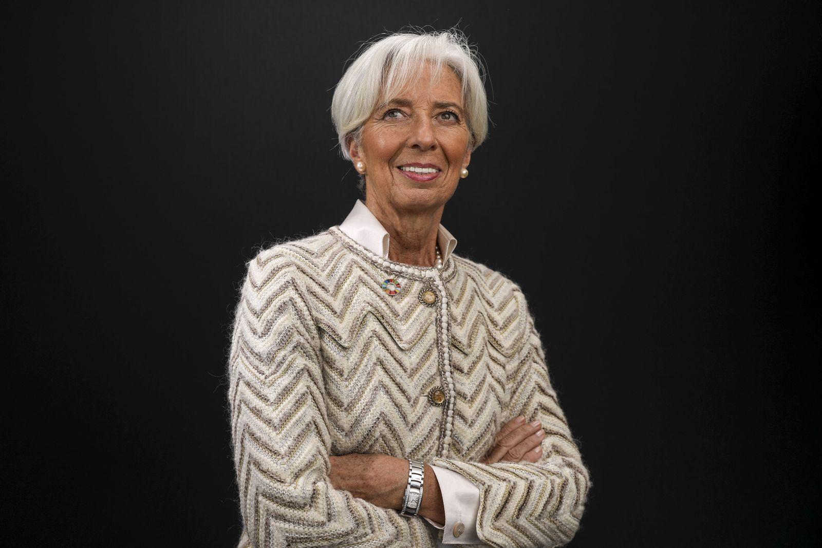 EINMALIGE VERWENDUNG Christine Lagarde