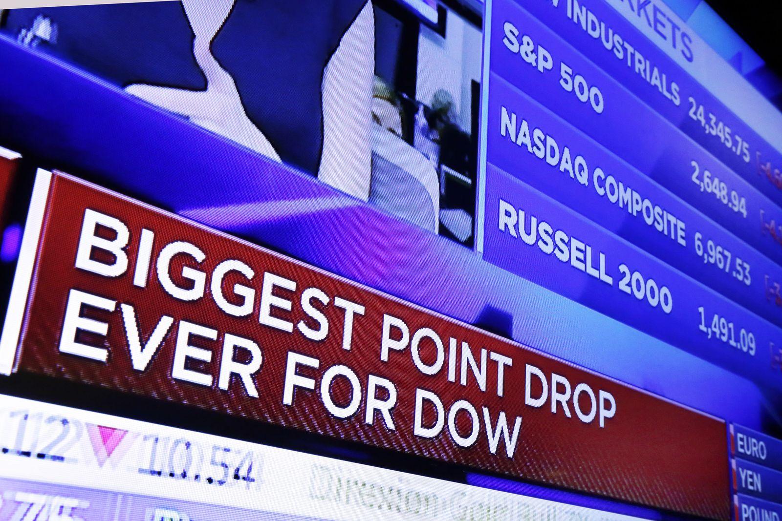 Finanzmarkt Wall Street Börse Dow Jones