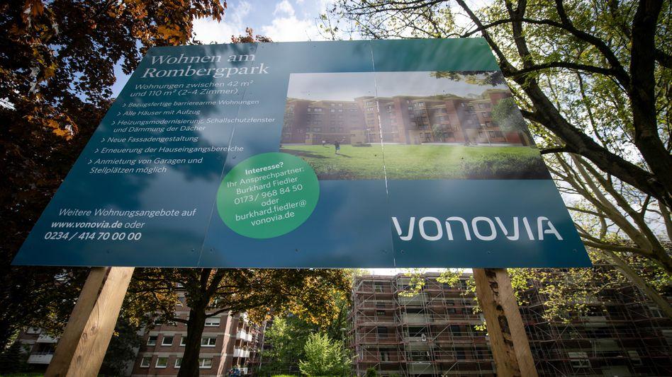 Vonovia-Werbung in Dortmund, Nordrhein-Westfalen: Die Aktien wurden zu einem Stückpreis von 59 Euro platziert
