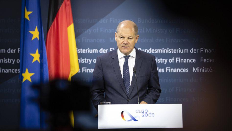 Minister unter Druck: Vizekanzler Olaf Scholz.