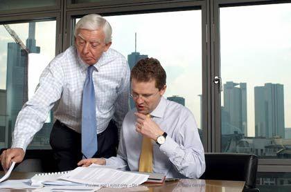 Zwei, die sich verstehen: UBS-Deutschland-Chef Zeltner (r.) mit Partner Sauerborn