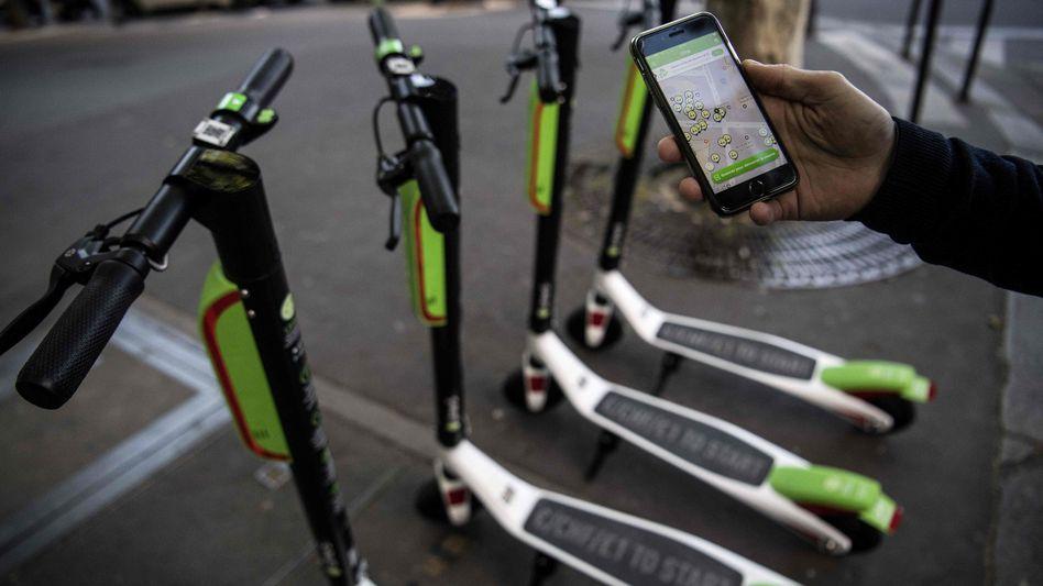 Elektro-Tretroller des US-Start-ups Lime