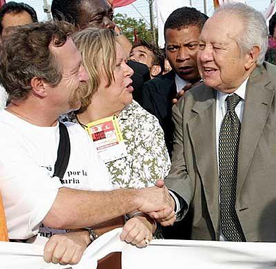 Die Gegner sind gut organisiert: Zeitgleich zum World Economic Forum findet in Porto Alegre ein World Social Forum statt