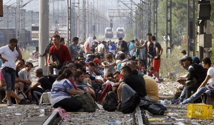 """Grenze zwischen Griechenland und Mazedonien: """"Entweder Soldaten oder ein Zaun"""" sollen Flüchtlinge künftig fernhalten"""