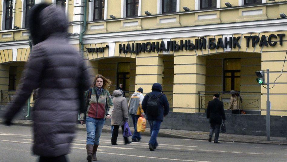 Zentrale der Trust-Bank in Moskau: Kriselndes Geldhaus braucht mehr Kapital