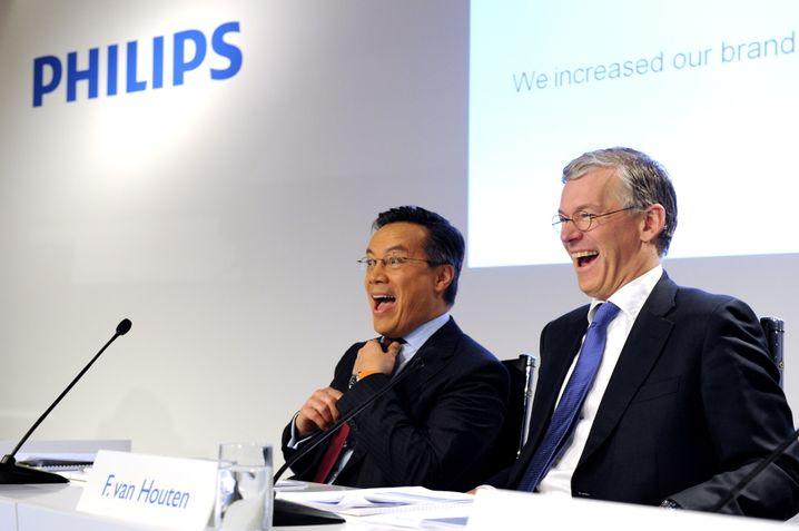 Vorstandschef Frans van Houten (rechts) und sein Finanzvorstand Ron Wirahadiraksa