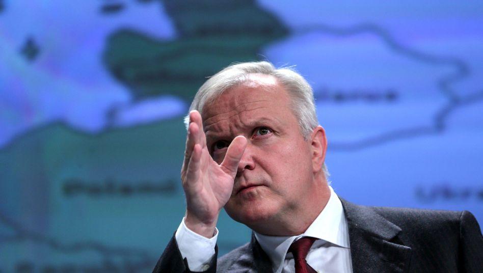 EU-Währungskommissar Olli Rehn: Wähnt Europa auf dem richtigen Weg