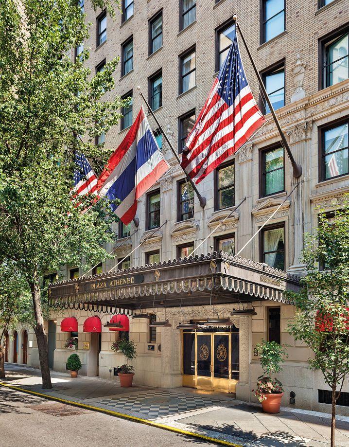 Mit Flagge und Format: Im New Yorker Plaza Athénée kann die gehobene Gesellschaft dem Trubel Manhattans entgehen - ohne etwas zu verpassen