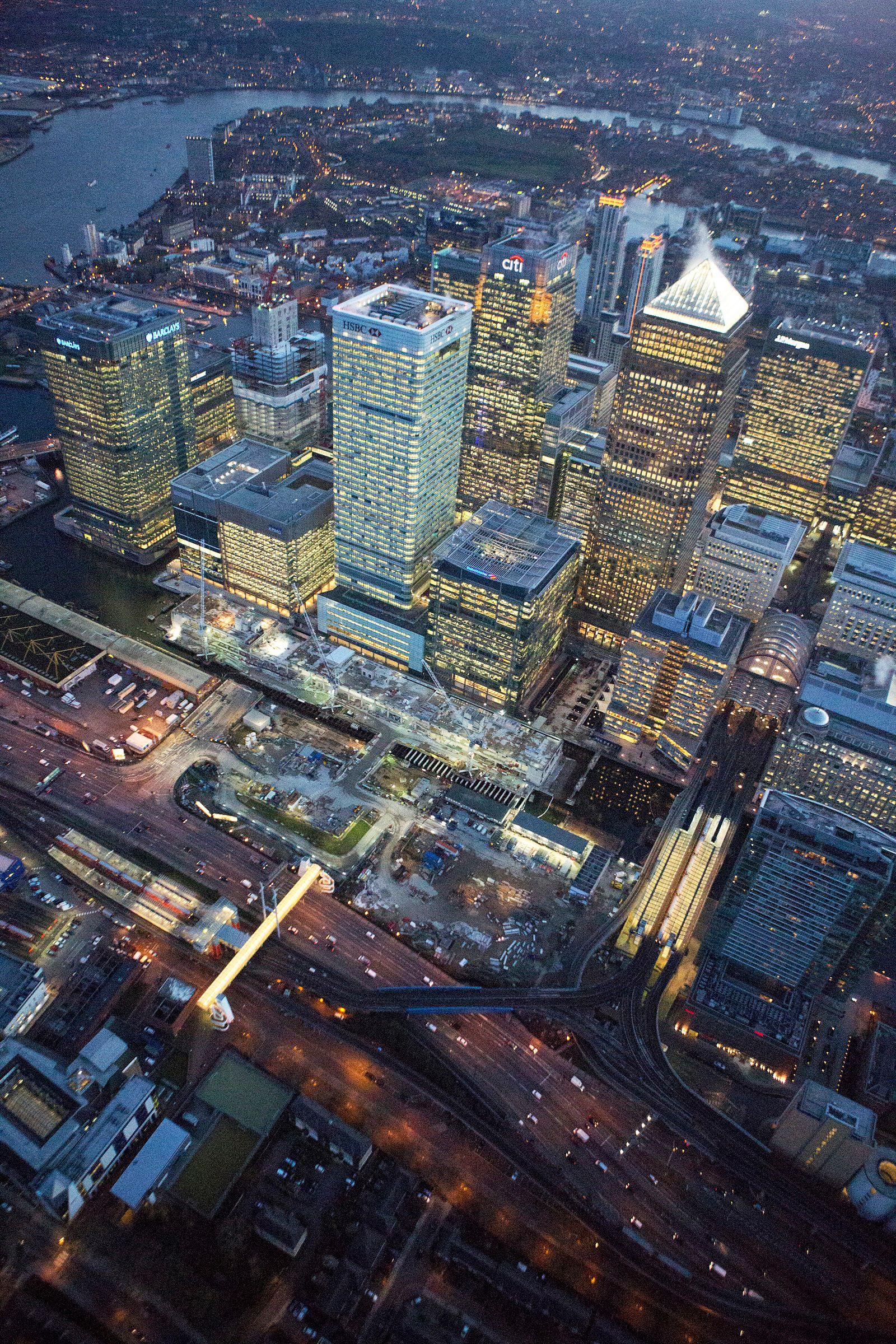London / Banken-Viertel / Konjunktur / England