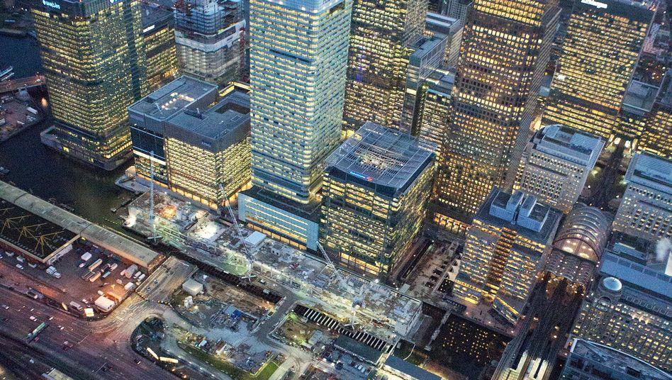 Bankenviertel Canary Wharf in London: Besitzer sollen für Abwicklung ihrer Geldhäuser mithaften