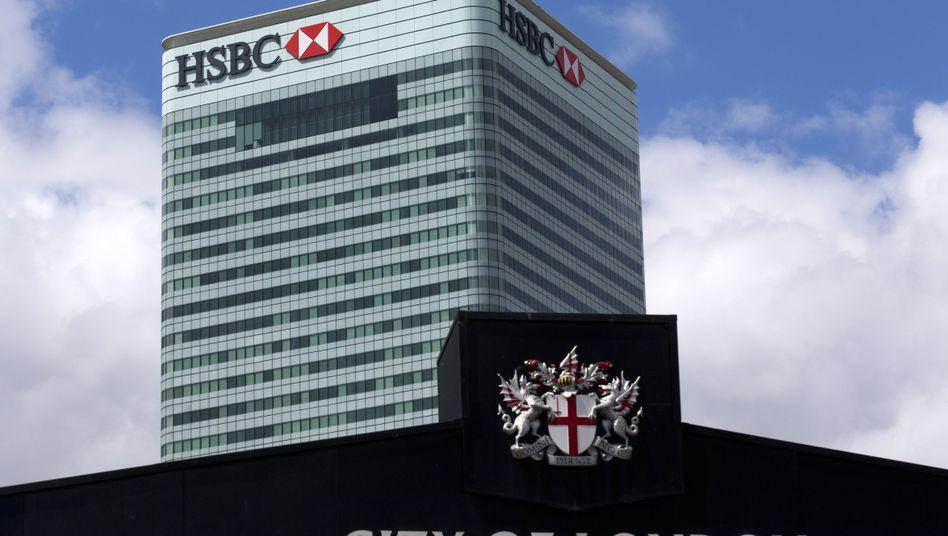 HSBC-Zentrale in London: Der Hauptsitz soll in Großbritannien bleiben, dennoch wird die Bank im Zuge des Brexit rund 1000 Arbeitsplätze in die französische Metropole Paris verlagern