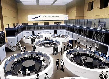Auf Expansionskurs: Handelssaal der Deutschen Börse