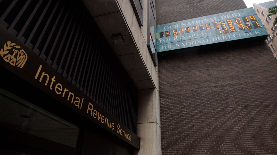 Plötzlicher Seitenwechsel: Büro der US-Steuerbehörde IRS in New York