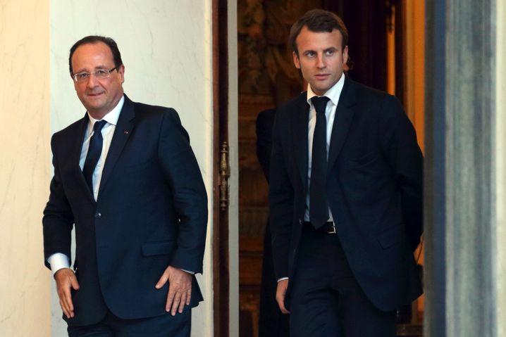 Neuer Wirtschaftsminister Frankreichs: Emmanuel Macron (r.) mit Präsident Hollande