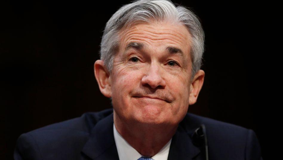 US-Notenbank-Chef Jerome Powell: Ob er bei einer Inflationsrate von 5,0 Prozent doch ins Grübeln gerät?