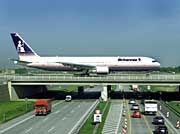 Flughafen Leipzig: Spektakuläre Ankunft