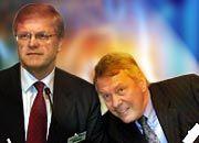 Manfred Schneider (re.) und der designierte Nachfolger Werner Wenning
