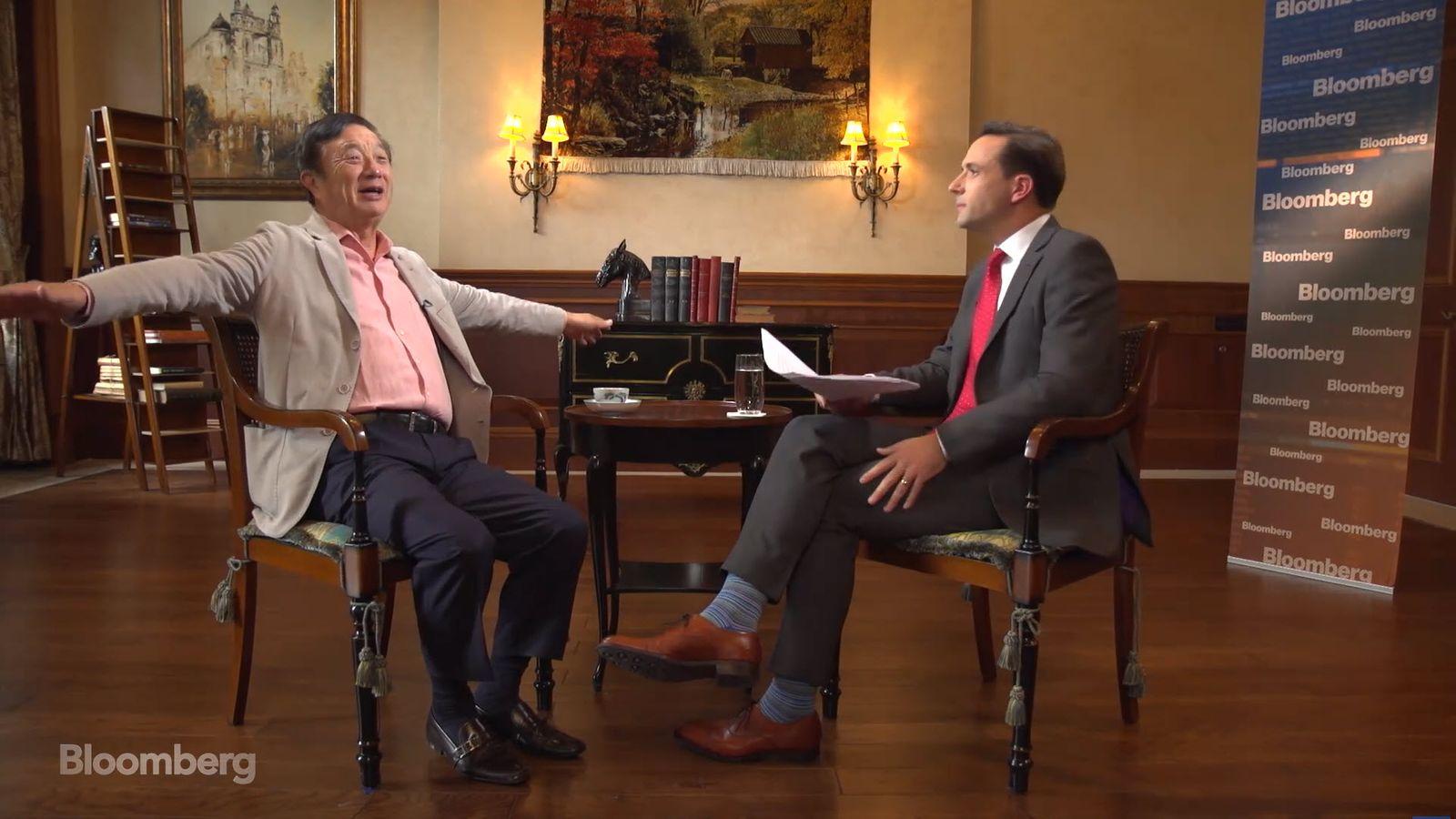 EINMALIGE VERWENDUNG SCREENSHOT Bloomberg Video / Ren Zhengfei