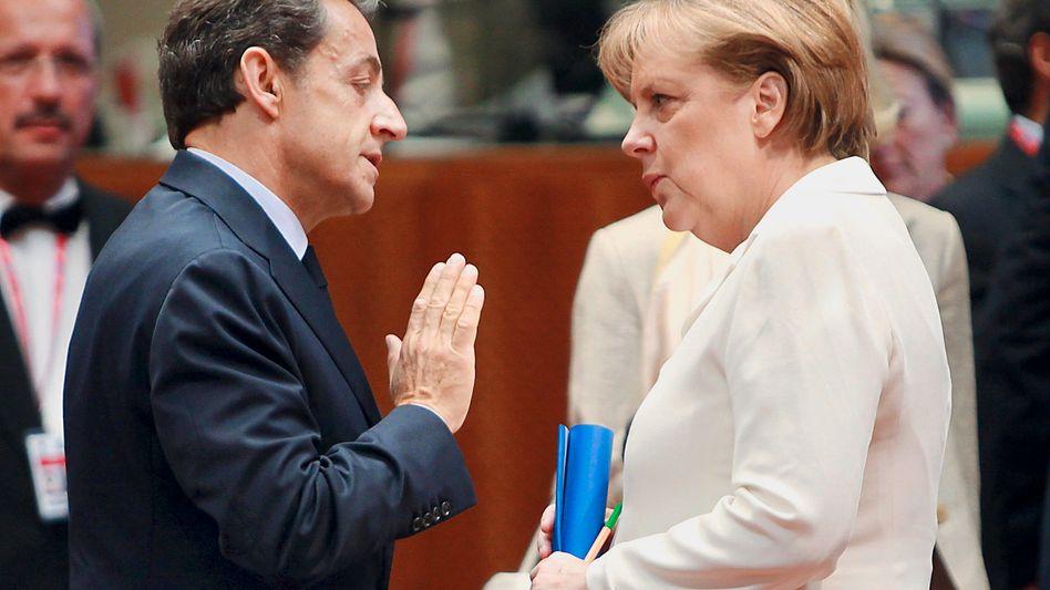 Großer Klärungsbedarf: Sarkozy und Merkel vor dem jüngsten Euro-Gipfel im Juni