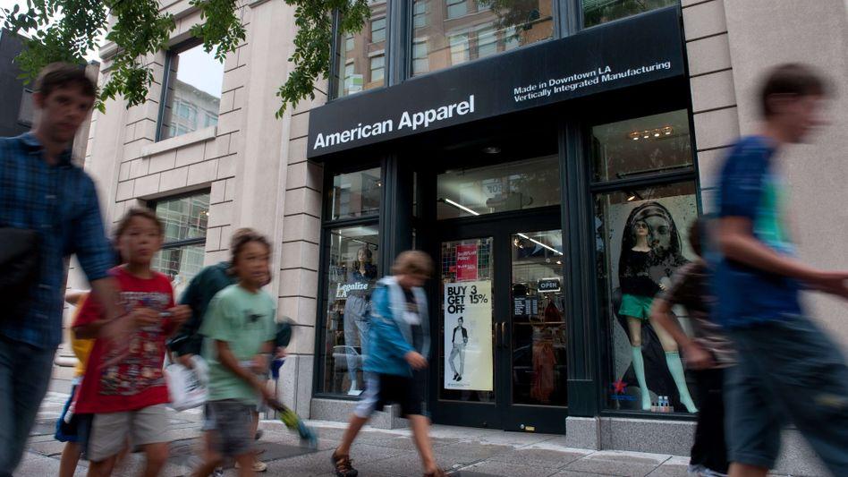 Als es noch lief: Filiale von American Apparel in Washington DC im Jahr 2010.