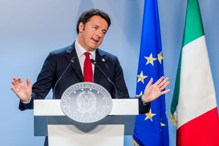Pro-Europäer Matteo Renzi: Konflikt mit Europas Regeln zur Staatshilfe