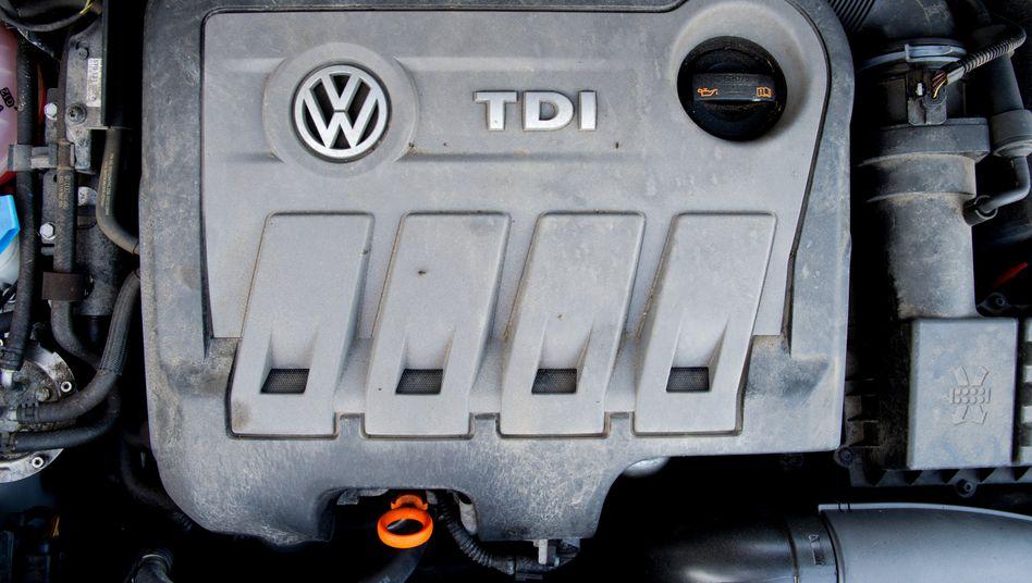 Vom Abgasskandal betroffener Dieselmotor: VW hat sich inzwischen mit 200.000 betroffenen Kunden geeinigt