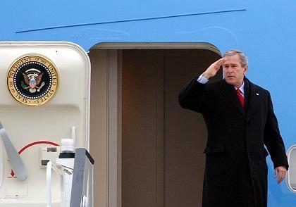 George W. Bush: Gespräche im Mainzer Schloss