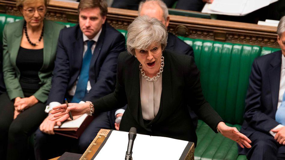 Großbritanniens Premierministerin Theresa May am Dienstag im Unterhaus.