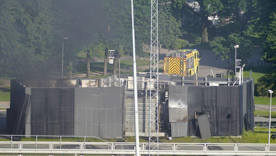 Zerstörte Wasserstofftankstelle in Sandvika (Norwegen)