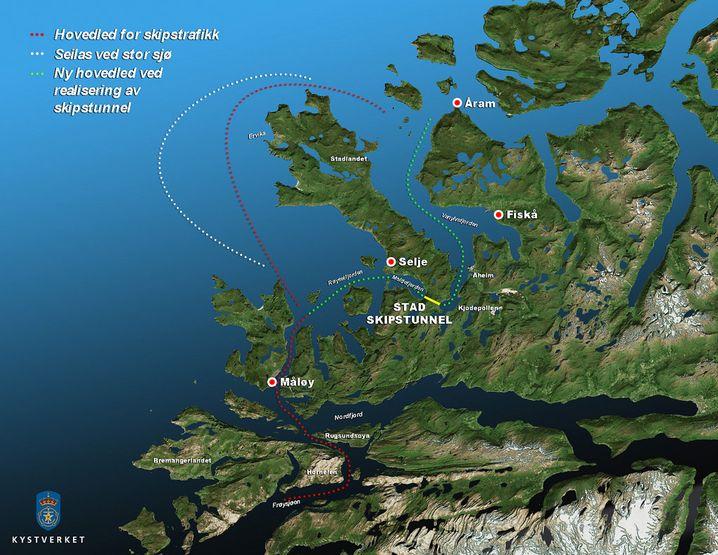 Abkürzung am Moldefjord: Norwegens Schiffstunnel