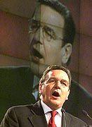 Redete über eine Stunde zu den Delegierten: Gerhard Schröder