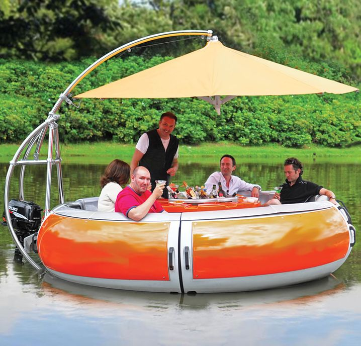 Barbecue Dining Boat, Grill-Boot