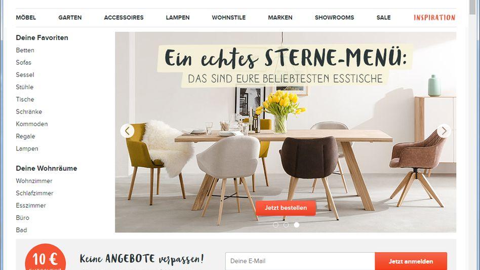Home24-Website: Nicht alle Aufträge konnten 2018 dem Unternehmen zufolge ausgeliefert werden, daher wurde der anvisierte Umsatz nicht erreicht