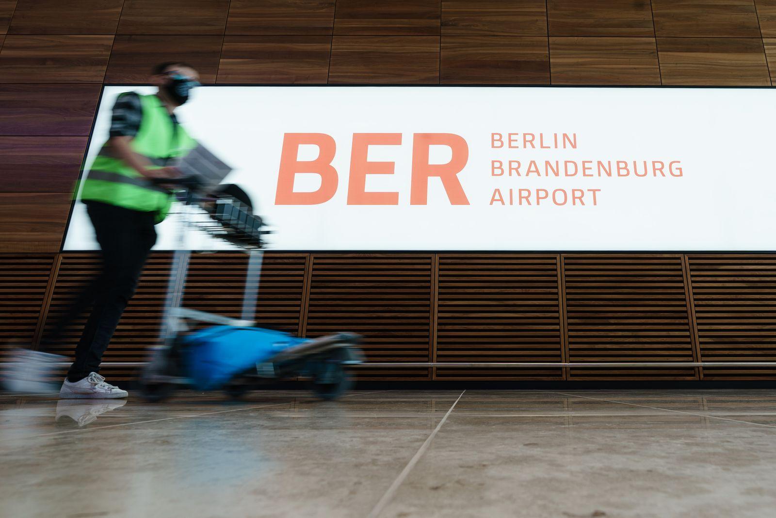 Berlin Brandenburg Airport press tour in Germany, Schoenefeld - 03 Sep 2020