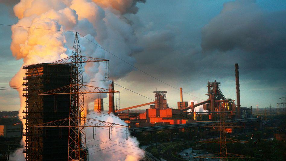 Stahlwerk von ThyssenKrupp: Investitionen in CO2-sparende Produktionsweise lohnen sich nicht